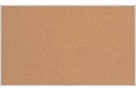 Пробковая настенная информационная доска в алюминиевой багетной рамке (600х1000)