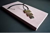 Подставка-подиум для украшений тканевая розовая, большой прямоугольник