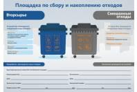 """Наклейка """"Площадка по сбору и накоплению отходов"""" с доп. информацией"""