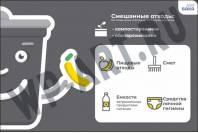 """Табличка для площадки сбора и хранения ТБО """"Смешанные отходы"""" МО"""