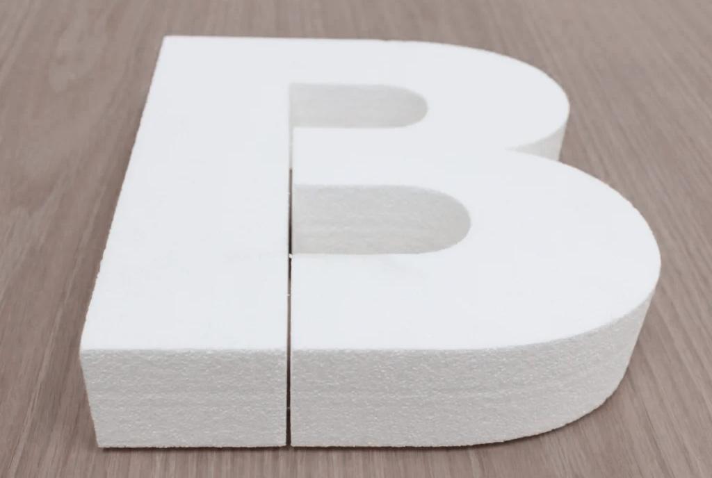 Объемная буква из пенопласта