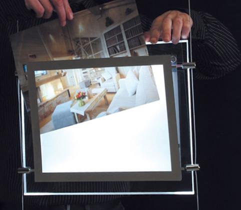 монтаж бэклита в световую панель Crystal Led