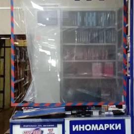 защитный подвесной экран из пластика пэт для прилавка