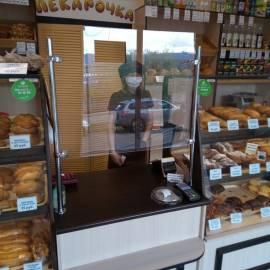 защитный настольный экран для пекарни