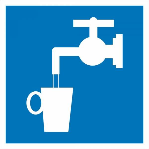 Знак' Питьевая вода' 200х200мм, D01
