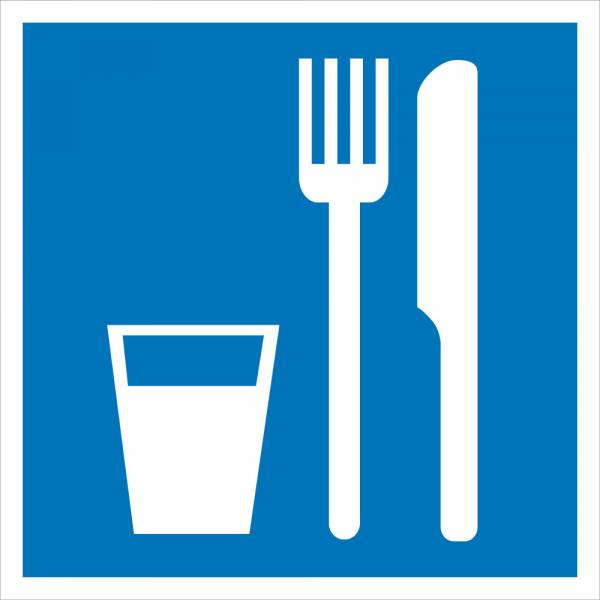 Знак' Пункт (место) приема пищи' 200х200мм, D02