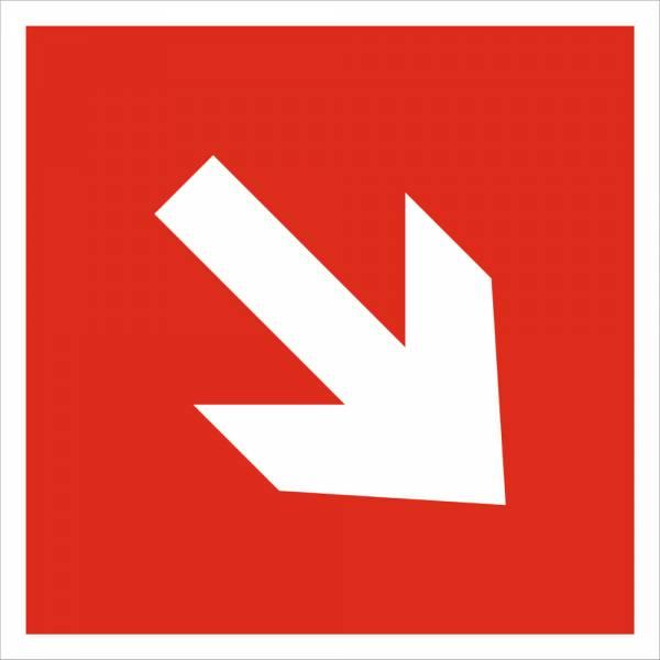 Знак 'Направляющая стрелка под углом 45' (ГОСТ Р 12.4.026-2001) 200х200 мм F01-02