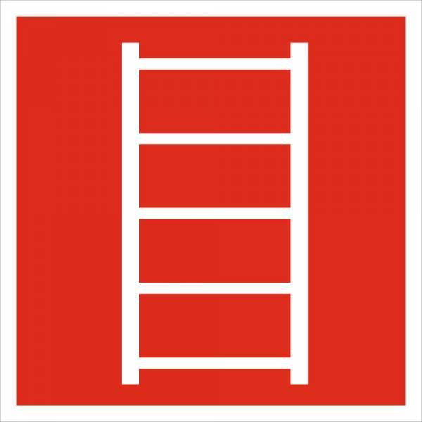 Знак 'Пожарная лестница' (ГОСТ Р 12.4.026-2001) 200х200 мм F03