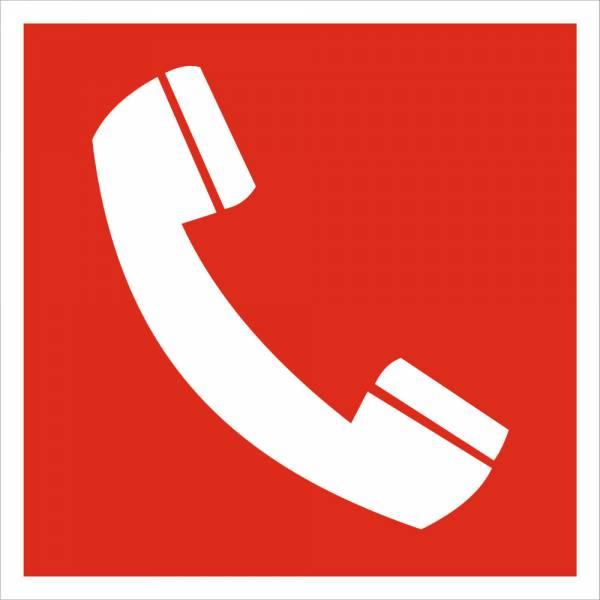 Знак 'Телефон' (ГОСТ Р 12.4.026-2001) 200х200 мм F05