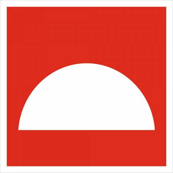 Знак 'Место размещения нескольких средств пожарной защиты' (ГОСТ Р 12.4.026-2001) 200х200 мм F06