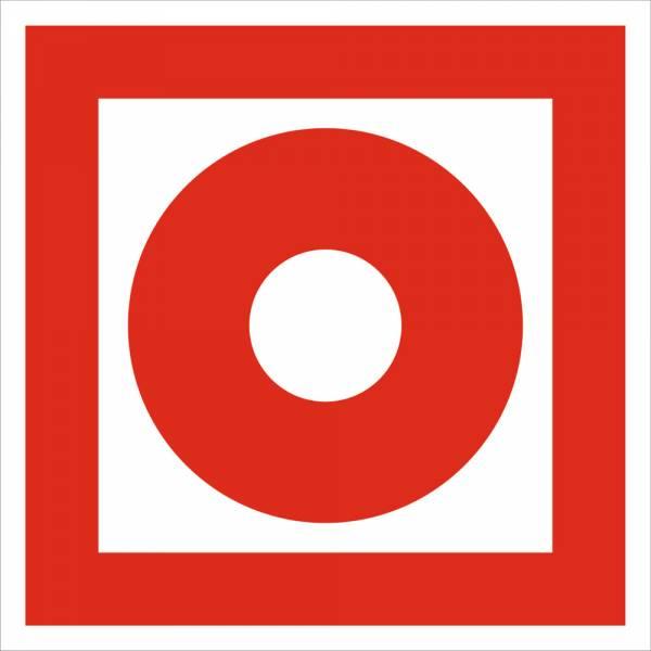 Знак 'Кнопка включения систем пожарной автоматики' (ГОСТ Р 12.4.026-2001) 200х200 мм F10