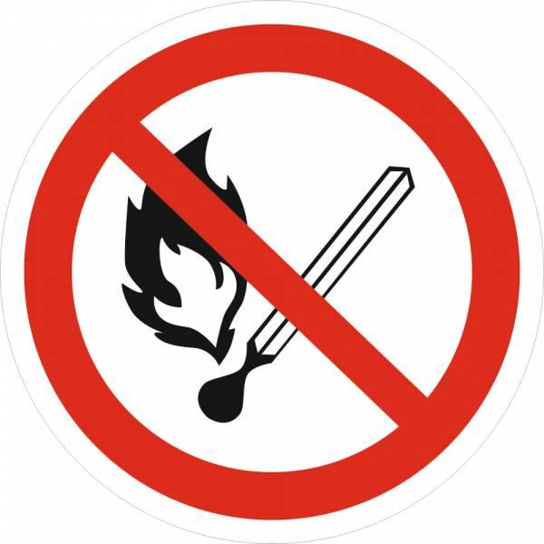 Знак 'Запрещается пользоваться открытым огнем' (ГОСТ Р 12.4.026-2001) 200х200 мм P02