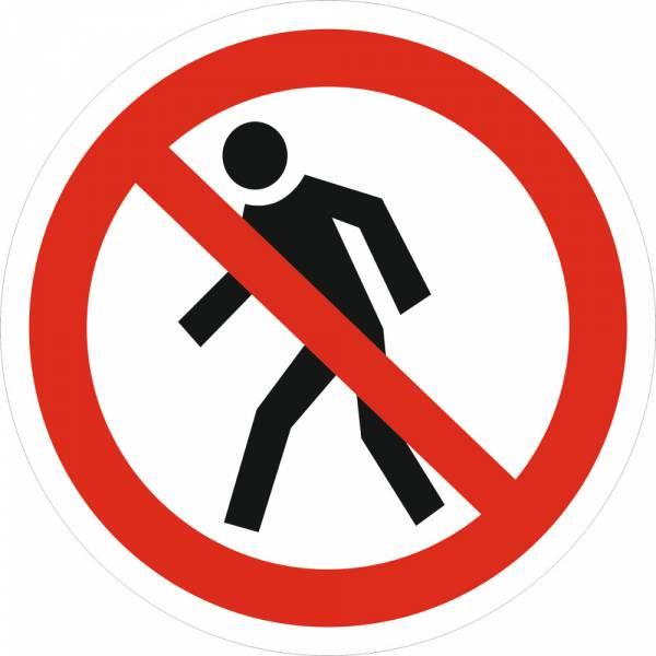 Знак 'Проход запрещен' (ГОСТ Р 12.4.026-2001) 200х200 мм P03