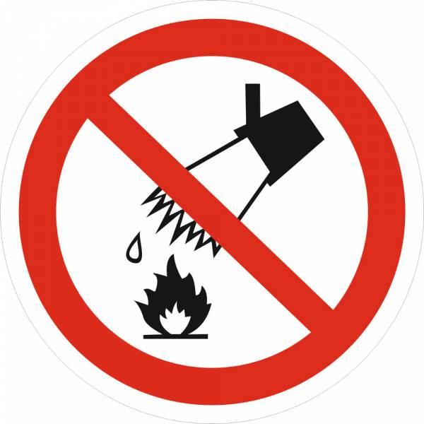 Знак 'Запрещается тушить водой' (ГОСТ Р 12.4.026-2001) 200х200 мм P04