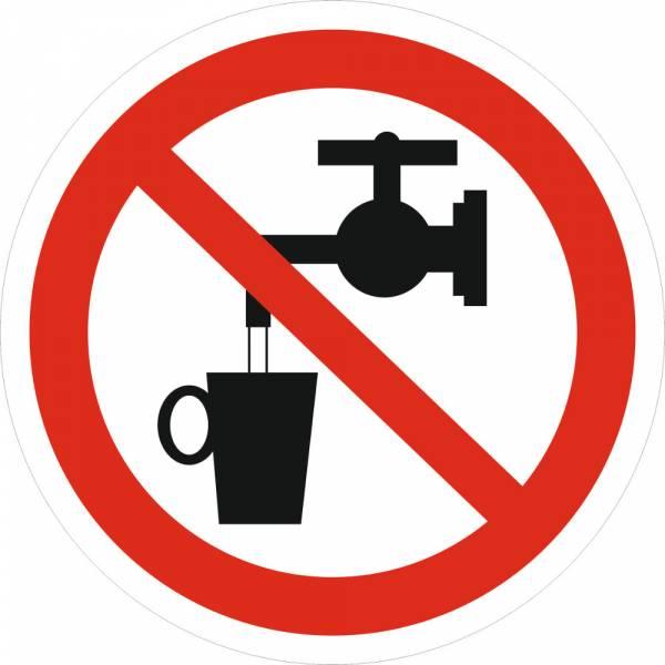 Знак 'Запрещается использовать в качестве питьевой воды' (ГОСТ Р 12.4.026-2001) 200х200 мм P05