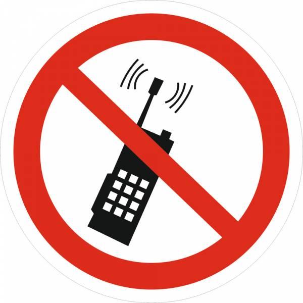 Знак 'Запрещается пользоваться мобильным телефоном' (ГОСТ Р 12.4.026-2001) 200х200 мм P18