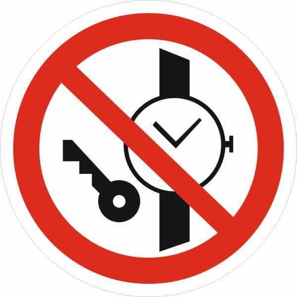 Знак 'Запрещается иметь при (на) себе металлические предметы' (ГОСТ Р 12.4.026-2001) 200х200 мм P27