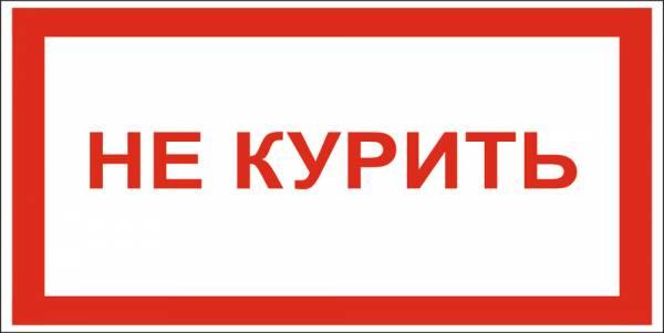 Знак 'не курить' 200х100 мм S19