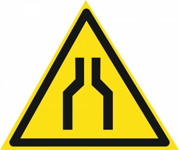 Знак 'Осторожно. Сужение проезда(прохода)'  200х200х200 мм W04