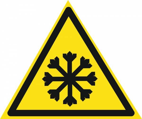 Знак 'Осторожно. холод'  200х200х200 мм W08