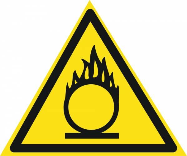 Знак 'Осторожно. Окислитель'  200х200х200 мм W09