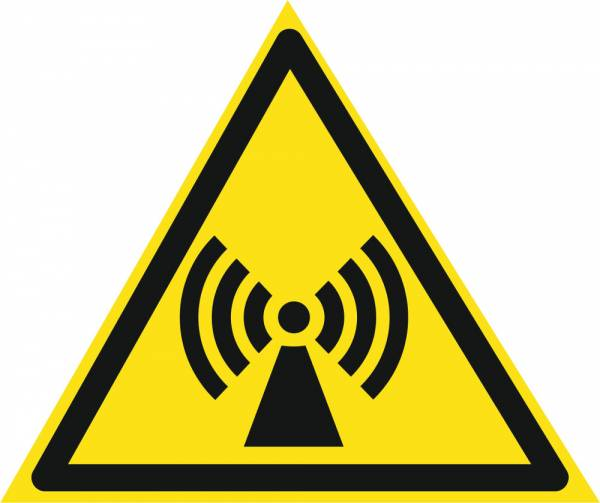 Знак 'Осторожно. электромагнитное поле'  200х200х200 мм W10