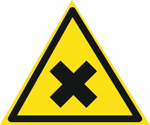 Знак 'Осторожно. вредные для здоровья аллергические вещества'  200х200х200 мм W12