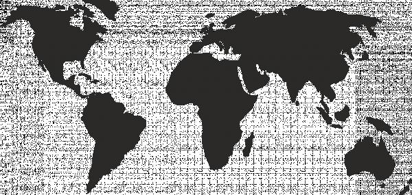 карта мира контур