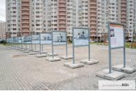 Изготовление и установка композиции уличных стендов (ЖК Южное Видное)