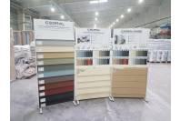 Информационные стенды для образцов строительных материалов