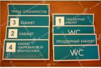 Таблички из пластика ПВХ - примеры работ