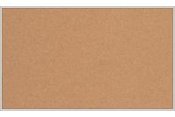 Пробковая настенная информационная доска в алюминиевой багетной рамке