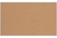 Пробковая настенная информационная доска в алюминиевой багетной рамке(1000х1200)