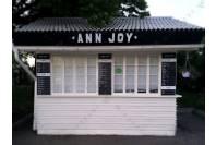 Оформление павильона кафе «ANN JOY» в ПКИО им. Горького - световые буквы и оклейка витрины