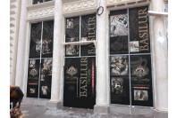 Оклейка витрины перед открытием магазина Basilur
