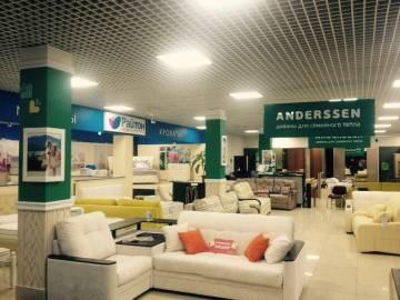 Оформление интерьера магазина ANDERSSEN