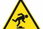 Знак 'Осторожно. Малозаметное препятствие'  200х200х200 мм W02
